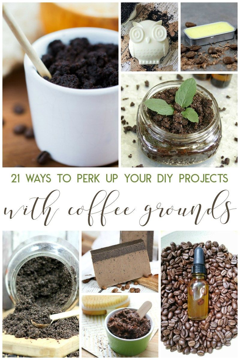 21 Ways To Perk Up Your Diy Projects With Coffee Grounds Living La Vida Holoka Coffee Grounds Diy Projects Homemade Bath Products
