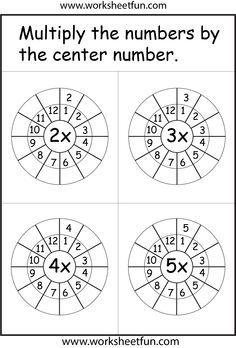 Hojas de trabajo tablas de multiplicar | matemáticas | Pinterest ...