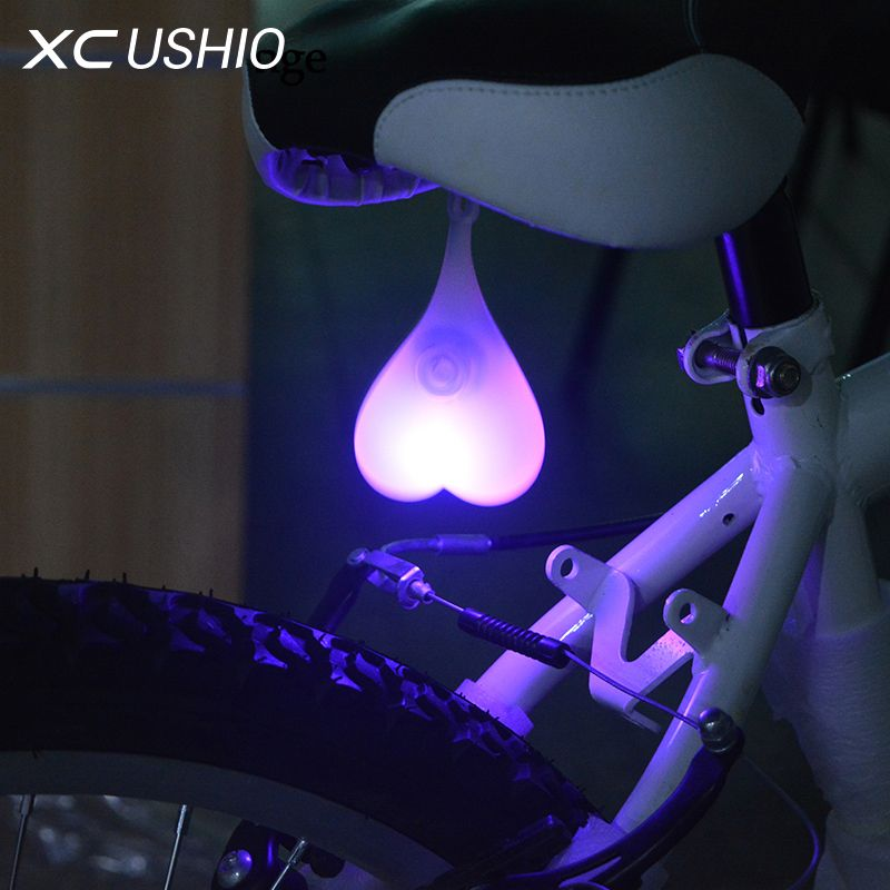 2016 Silicone Waterproof Bicycle Led Lamp Mountain Bike Cycling Night Warning Rear Light Bicycle Accessorie Bicycle Lights Bicycle Mountain Bike Women Bicycles