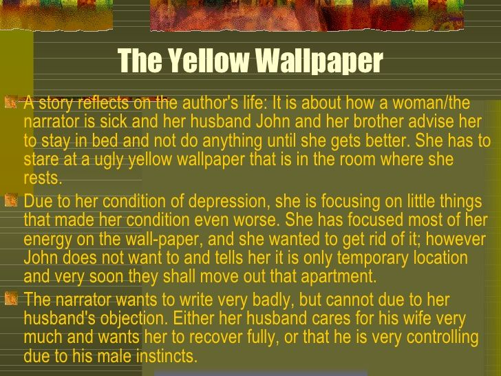 The yellow wallpaper resume