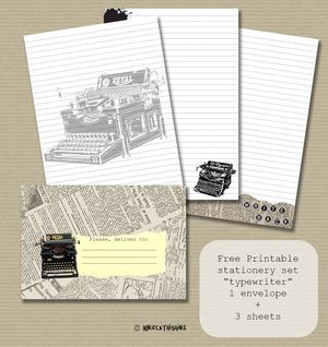 Downloads Snail Mail Love Free Printable Stationery Printable Stationery Letter Set