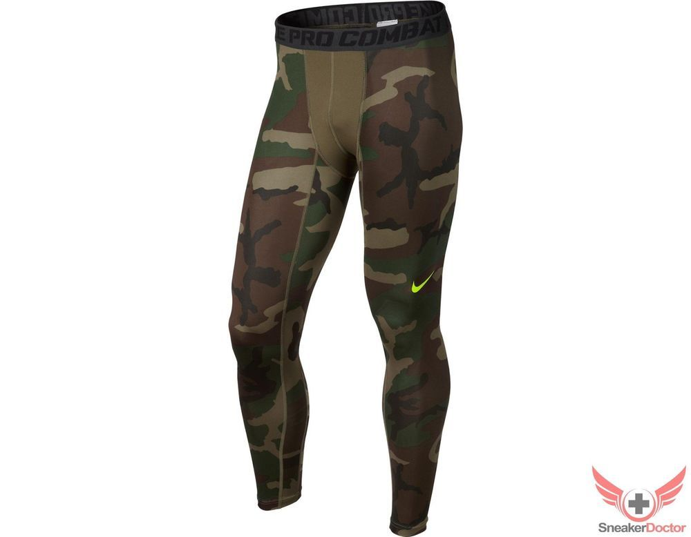 Details about New Mens Nike Pro Combat Camo Compression