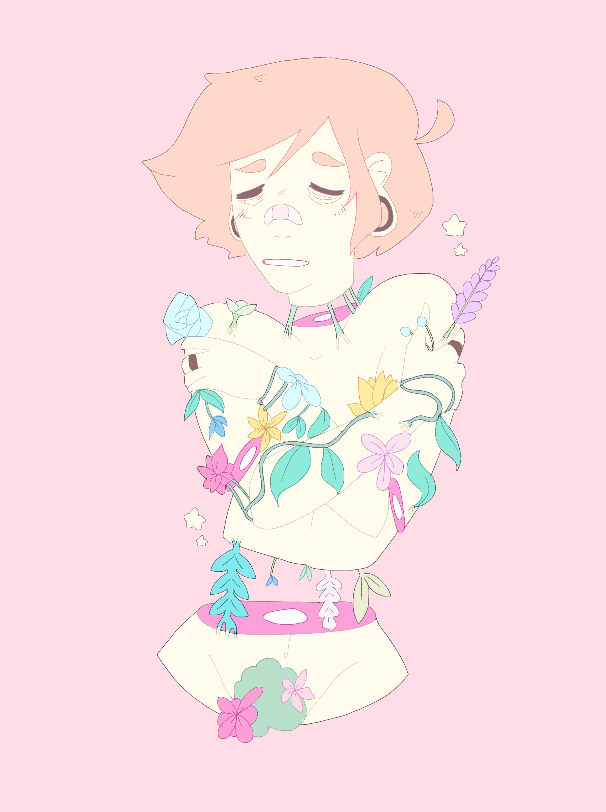 Flowers Grow On My Bones Pastel Art Candy Gore Cute Art I'm gonna try experimenting by actually drawing some candy gore later o_o pray for my soul xd. pinterest