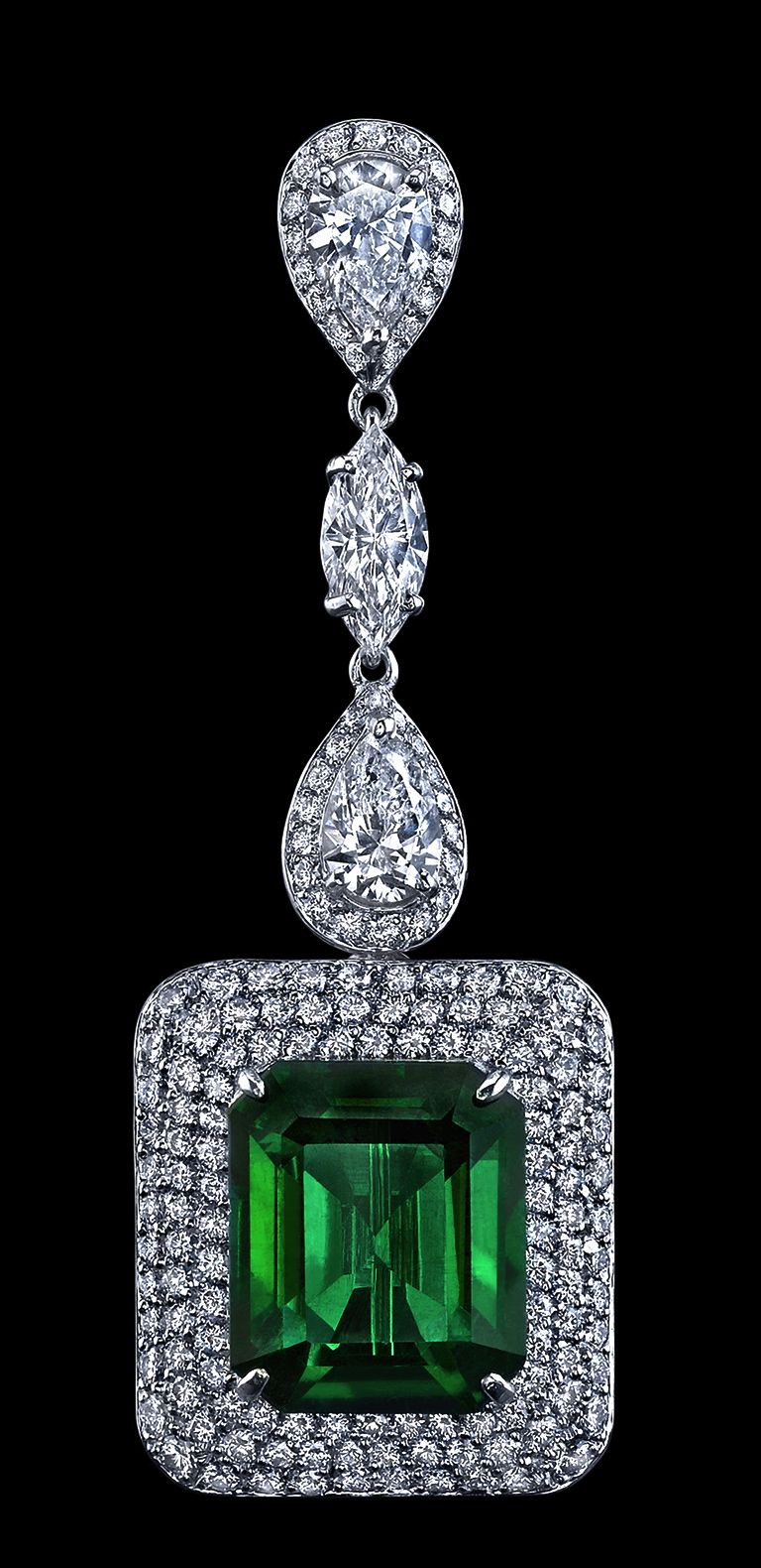 e2f1dbfe86ee96 Robert Procop Emerald & Diamond Ear Pendant | Gorgeous Jewelry ...