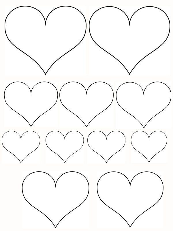 Coloriage Coeur Maitresse.Petits Coeurs Et Coeur Gros Valentines Day Modele De Coeur