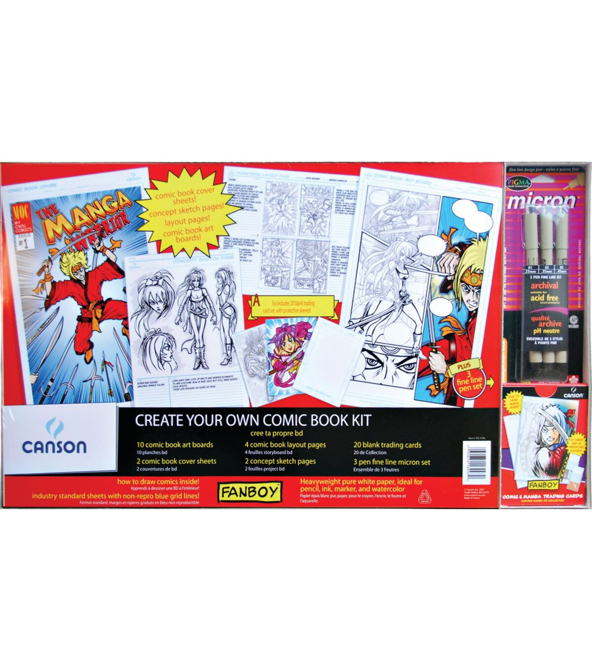 Canson Fanboy Create Your Own Comic Book Kit In