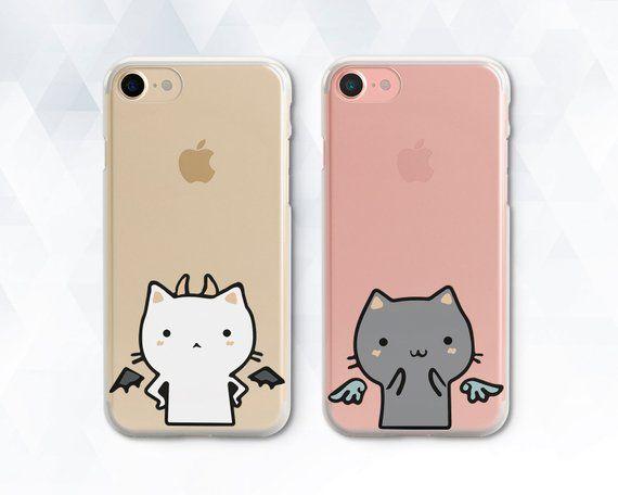 00e4fcc231 Cat iPhone case Couple Cute Girl iPhone X Xs Max XR case Best Friends  Kawaii iPhone 8 7 6 Plus case
