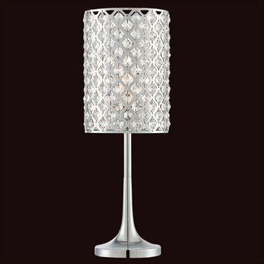 Keana Crystal Chrome Accent Lamp   Floor lamp, Master bedroom and ...