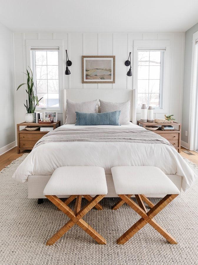 Coastal Lake House Bedroom