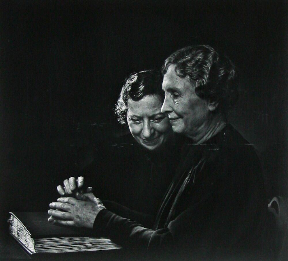 Helen Keller with Polly Thompson by Jousef Karsh