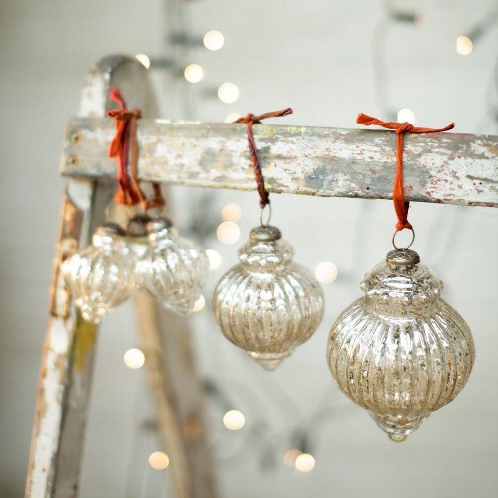 Assu Vintage Baubles Set Of 3 | Christmas Tree Decorations