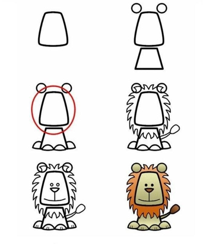 Easy Drawing Things For The Kids Drawings Easy Drawings Animal