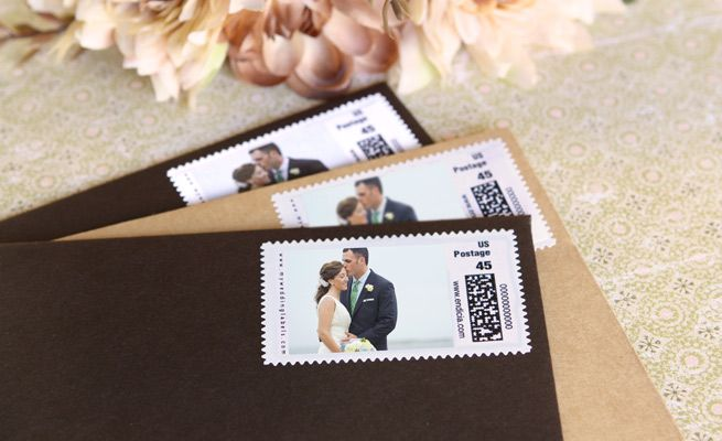 Wedding Postage Stamps Custom