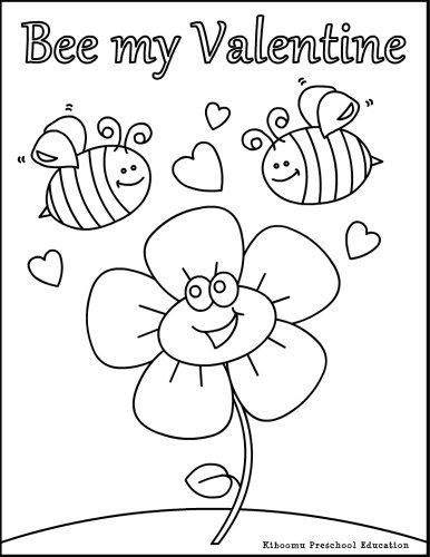 Kiboomu Kids Songs Bee My Valentine Coloring Page And Valentine Song Valentine Coloring Pages Valentine Coloring Valentines Day Coloring Page