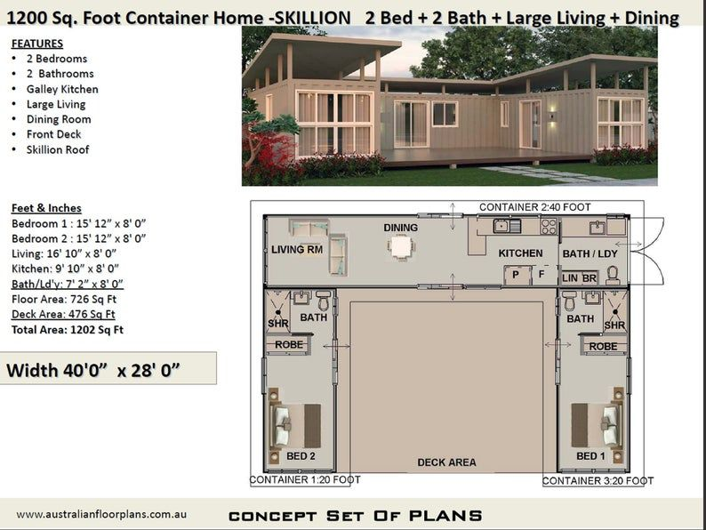 Shipping Container house plans House Plans Container home