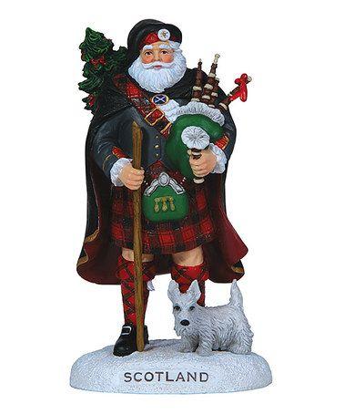 Another great find on #zulily! Scotland Santa Musical Figurine #zulilyfinds