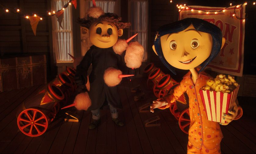 An example of puppetry being used in the stop motion animation film 'Corraline'.