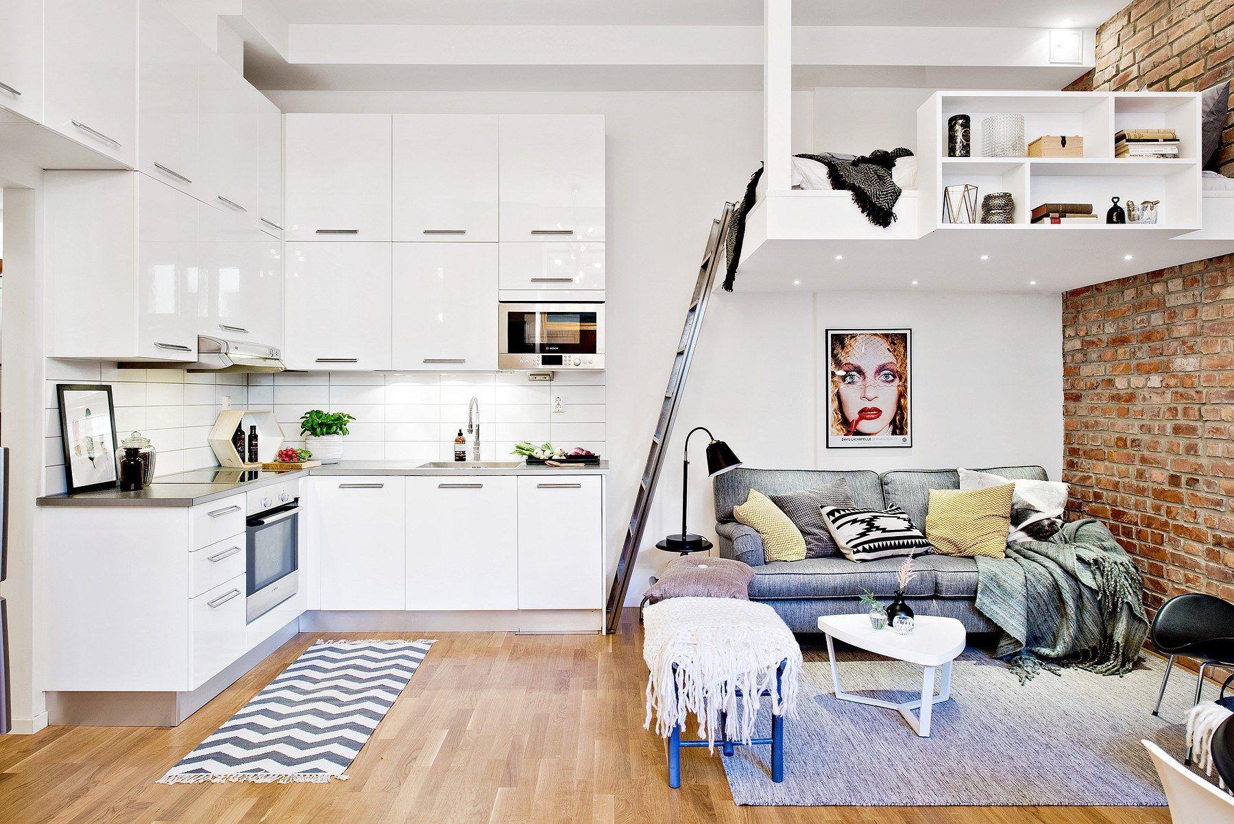 32 Qm Apartment Kleine Wohnung Schlicht Und Jedes Platz Genutzt