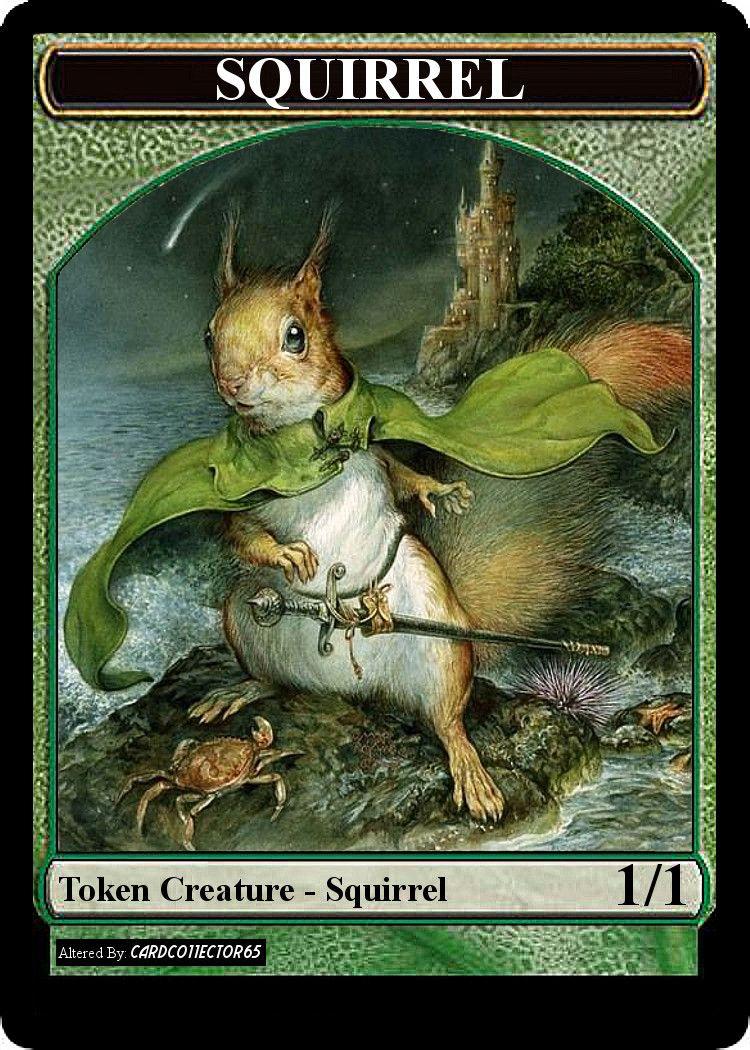 picture regarding Printable Mtg Tokens named Squirrel, Sword at Hand - MTG - Token Tokens MTG Omar