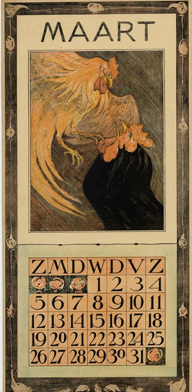 Theodoor van Hoytema, calendar 1905 March