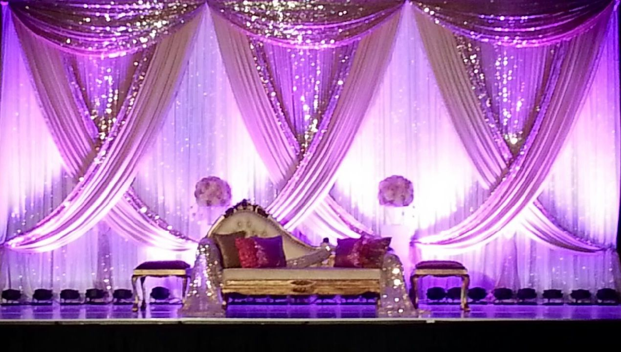 Wedding stage decoration design  Pin by cristobal real on Mesas  Pinterest  Backdrops Drop and Stage