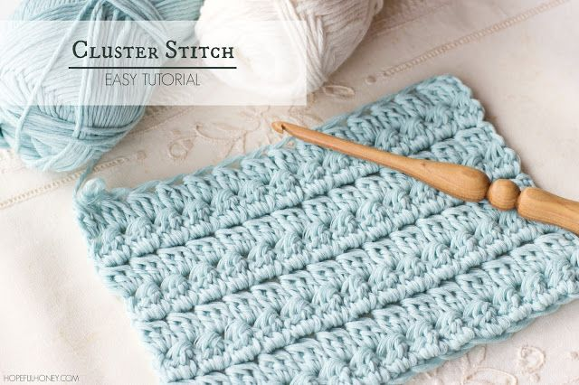 How To: Crochet The Cluster Stitch - Easy Tutorial | Häkelmuster ...