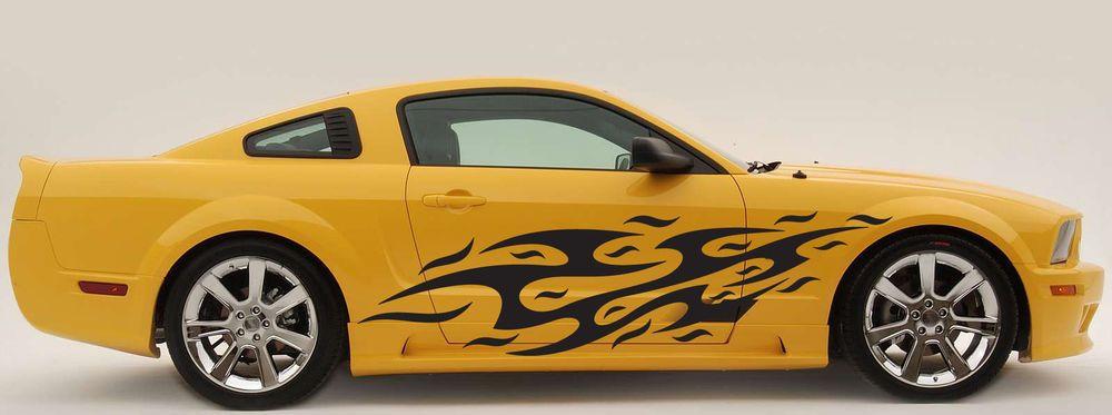 Pin Strip Motorcycle Flames Vinyl Car Decals Vehicle Racing Graphics
