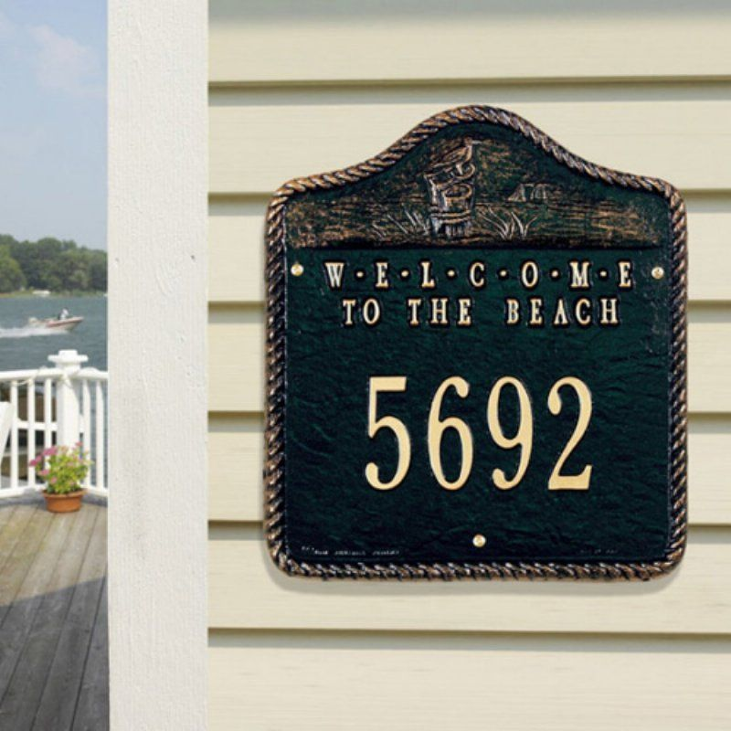 Whitehall Products Address Custom Plaque Welcome Fisherboy Lake