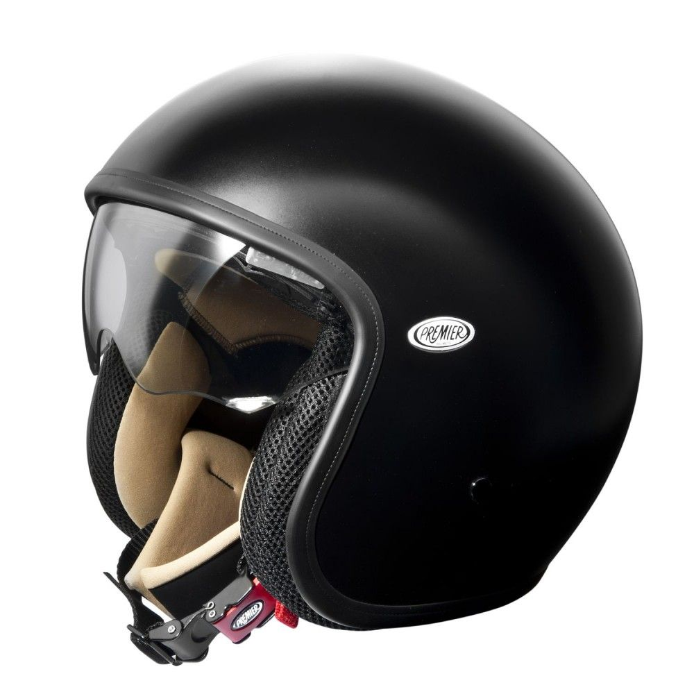 Premier Jet Vintage Helmet Matt Black Vintage Helmet Helmet Open Face Motorcycle Helmets