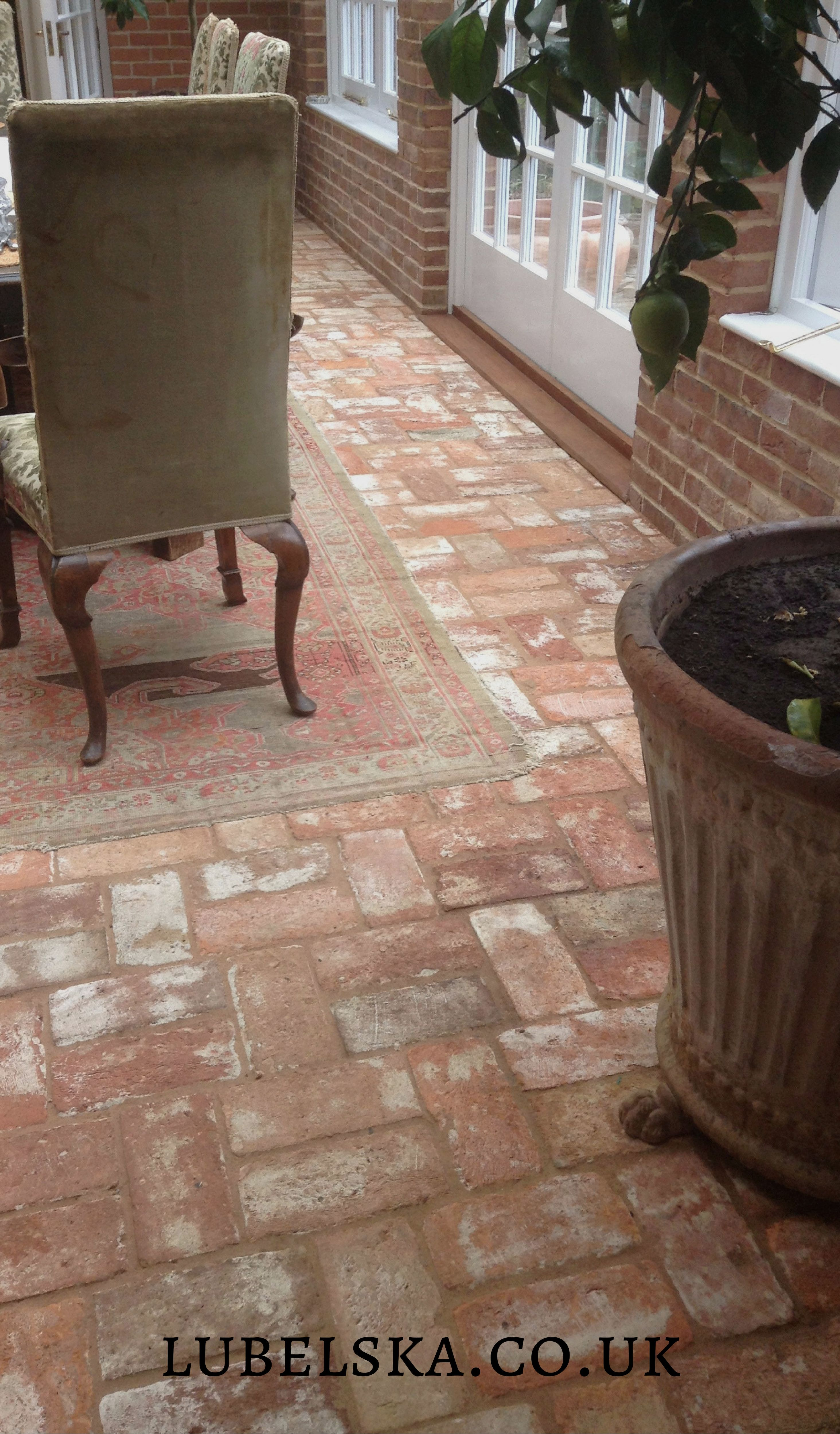 Our Warm Lubelska Brick Floor Finished With A Wash Brick Tiles Terracotta Floor Reclaimed Brick