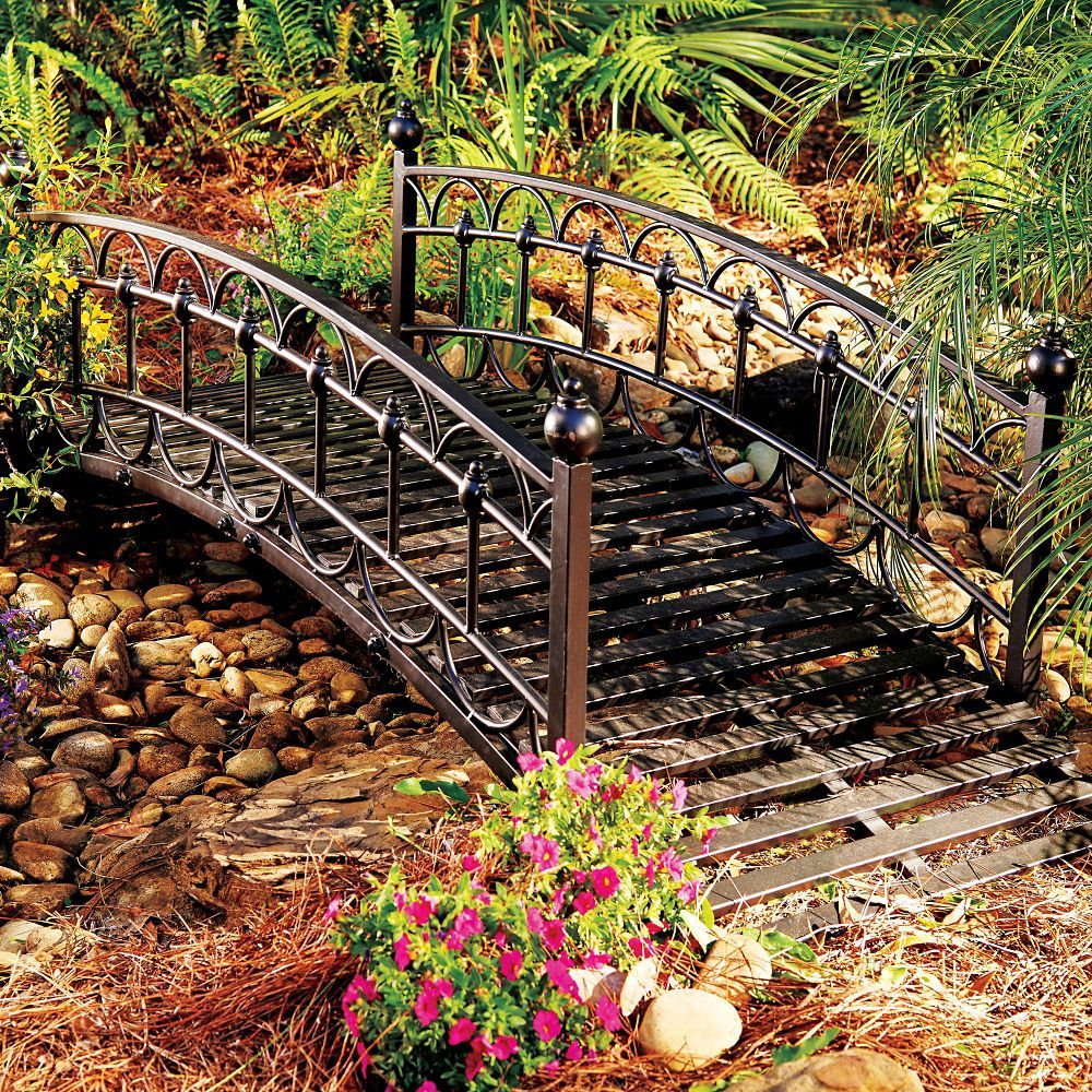 Enhance Your Landscape With Our Gracefully Arched Chestwick Metal Garden  Bridge. Use This Metal Garden