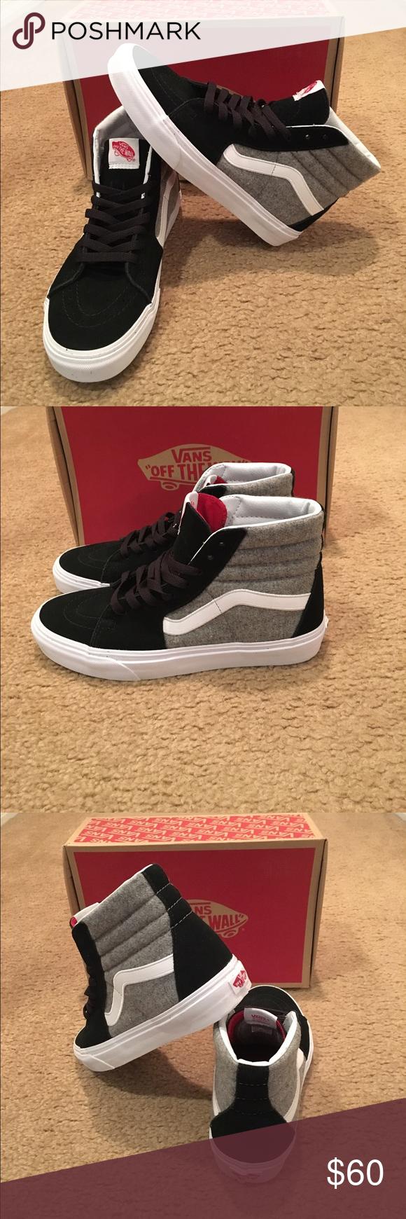 cbe4e8836a Vans Sk8Hi Wool Sport New in box. Unisex. Black Gray Vans Shoes Sneakers