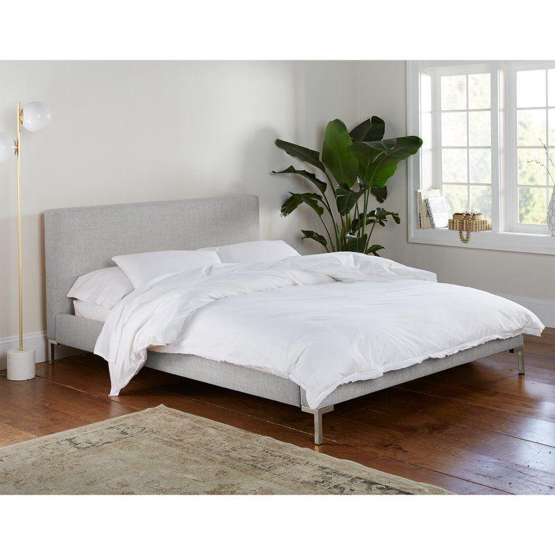 Landy Linen Upholstered Platform Bed Reviews Joss Main