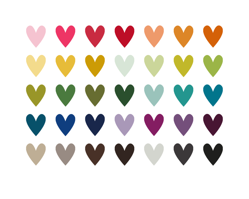 Just Make Stuff Blog...Multicolored Hearts Printable | Love Is All ...