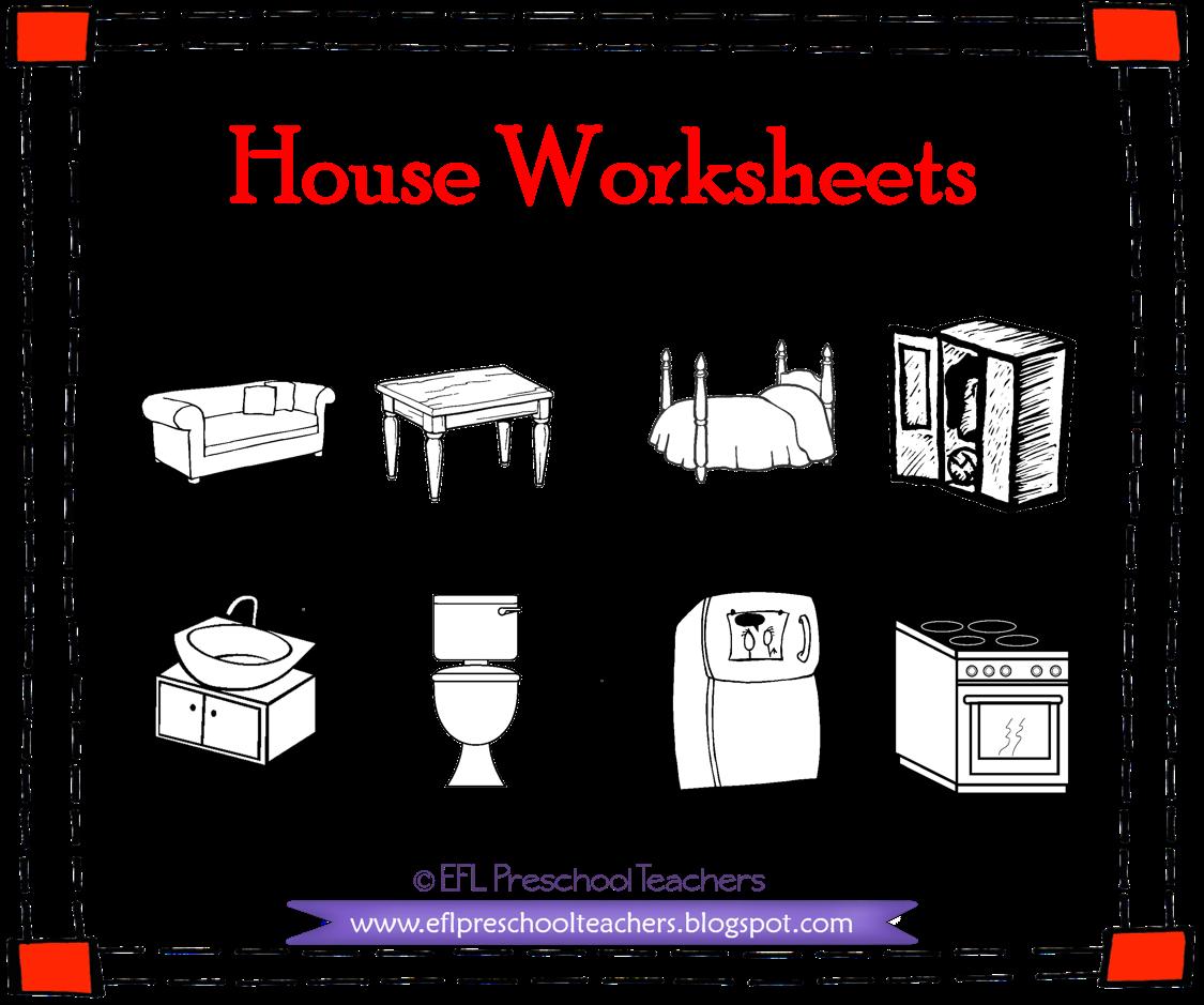 Esl House Furniture Printable Worksheets In