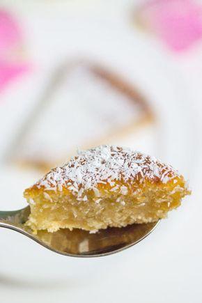 Vegan Backen Saftiger Kokoskuchen Mit Apfelmus Kuchen Pinterest