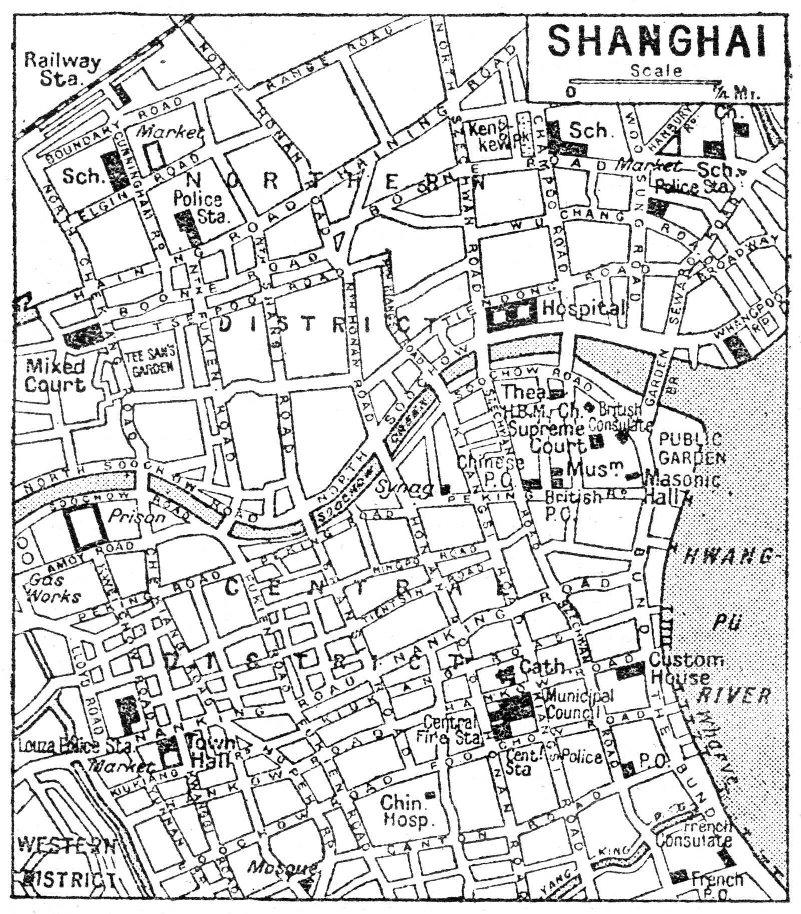 Shanghai Map, Shanghai, Chinese History