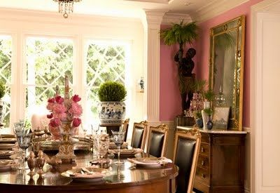 Pawleys Island Posh: Currently Obsessed: Pink Dining Rooms