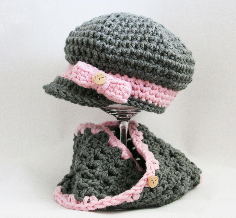 Mütze Und Loop Gehäkelt Für Mädchen Crochet Pinterest