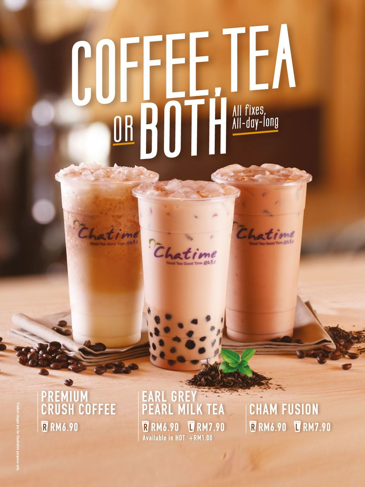 Coffee, Tea OR Both! New Series VarieTea CHATIME