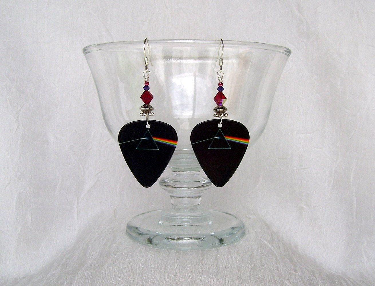 Pink Floyd Dark Side Of The Moon Guitar Pick Earrings