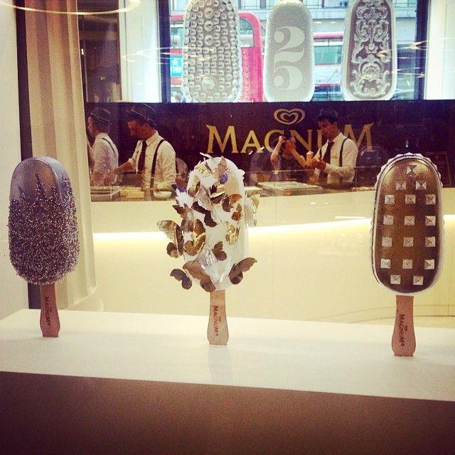 Prop Studios For Magnum Make My Magnum Pop Up In Selfridges Magnum Makemymagnum Design Retailwindows Popup Wi Ice Shop Ice Cream Art Magnum Ice Cream