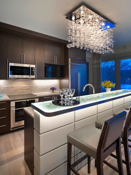 Kitchen Lighting Design For Easy Work And Stunning Decor Epic Contemporary Decorated With Modern Used Crystal