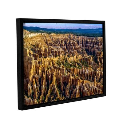 """Zipcode Design Bryce 01 Framed Photographic Print Size: 8"""" H x 10"""" W x 2"""" D"""