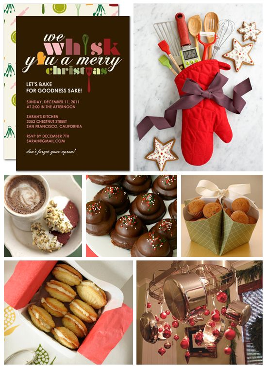 Holiday Christmas Party Ideas Part - 44: Holiday Baking Party Inspiration Board