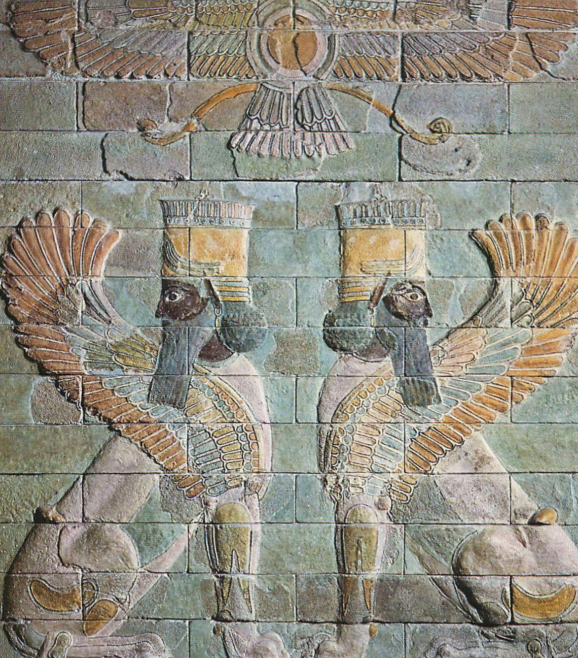 les Sphinx du palais de Darius I°