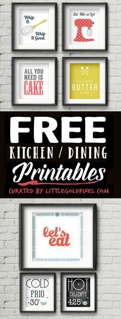 76 Diy Wall Art Ideas For Those Blank Walls Kitchen Printables Free