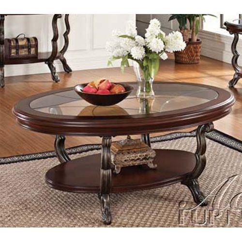 Oval Glass Top Coffee Table Bravo Coffee And End Tables