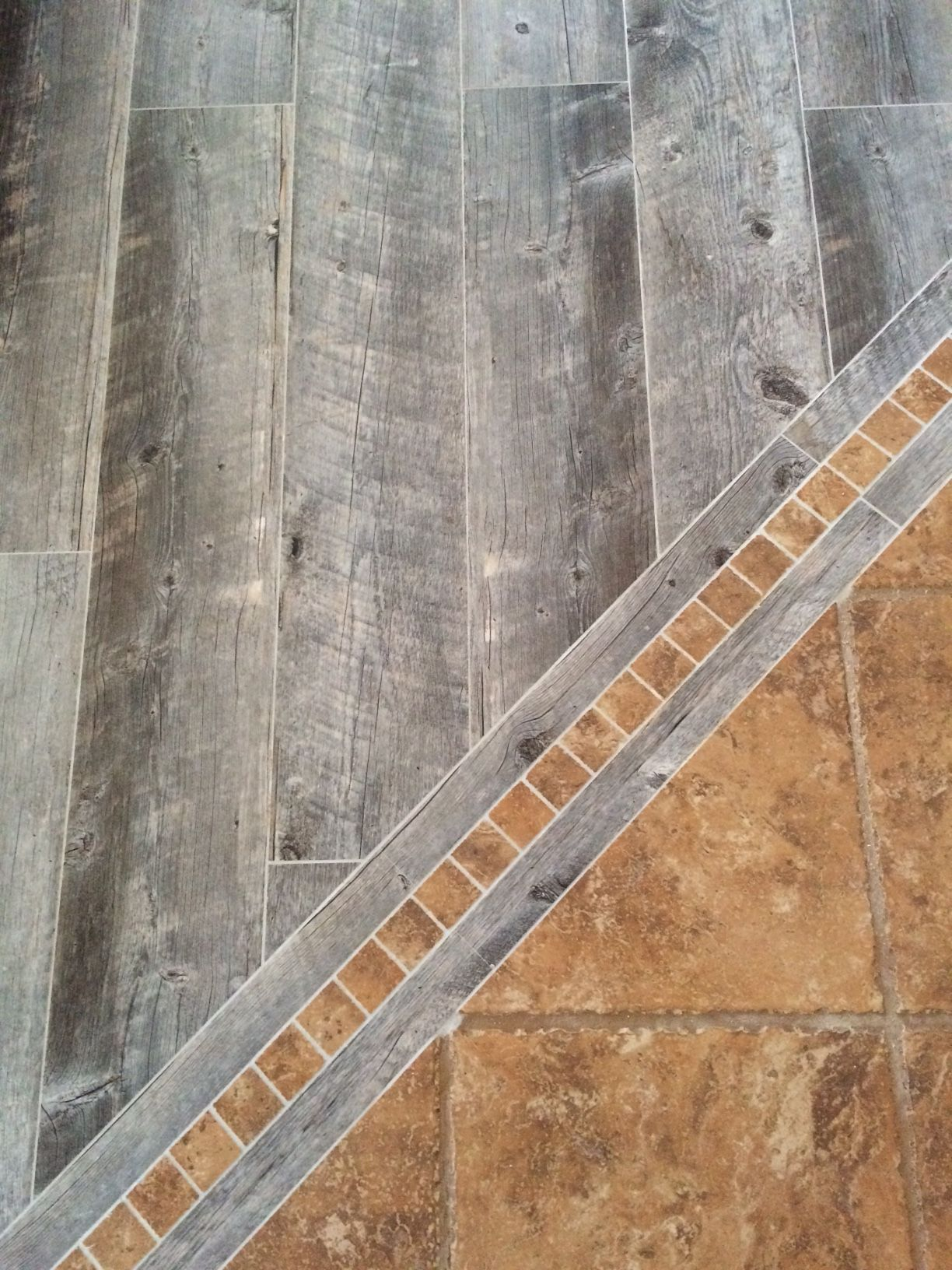 Loweus porcelain tile in natural timber ash gray weathered barn