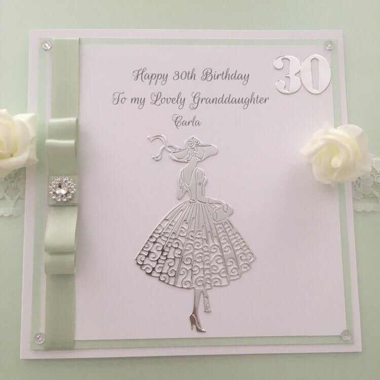 21st Birthday Card For Daughter Luxury Boxed Birthday Card Etsy In 2020 21st Birthday Cards Boxed Birthday Cards Silver Wedding Cards